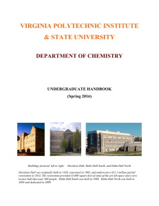 Spring 2016 CHEM Handbook - Chemistry | Virginia Tech
