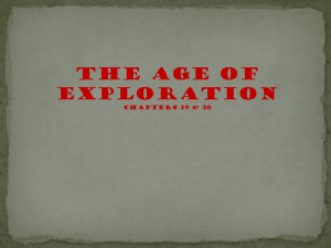 Age of exploration resulted from
