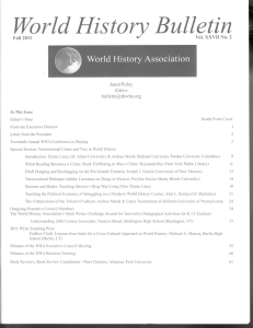 World History Bulletin - Big Eras Review