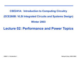 CSE 241A / ECE 260B, Winter 2003 UCSD