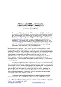 social classes and strata in contemporary capitalism - Bresser