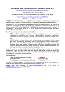 Software Engeneering and Intelligent Systems Conferences, Wuhan