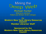 Web to Deep Web - Hobart and William Smith Colleges