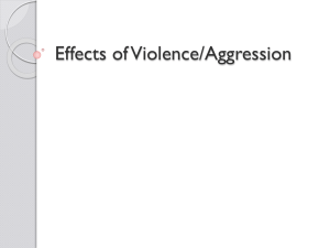 Effects of Violence/Aggression