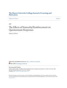 The Effects of Nonverbal Reinforcement on Questionnaire Responses