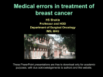 Medical errors in treatment of breast cancer