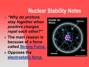 Nuclear Stability Notes