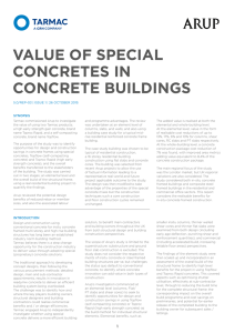 value of special concretes in concrete buildings