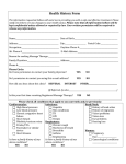 Health History Form - Veitch Chiropractic