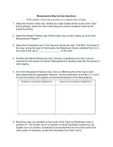 Mesopotamia Map Activity Questions With a partner, answer these