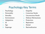 Psychology Key Terms