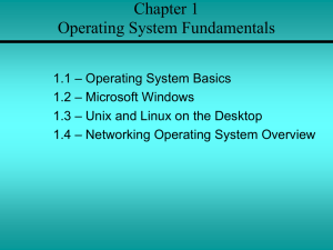 Chapter 1 Operating System Fundamentals