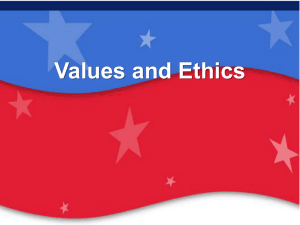 Values and Ethics - Wayne Community College