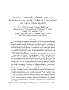 Automatic construction of quality nonobtuse boundary and/or