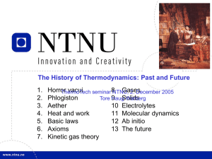 The History of Thermodynamics