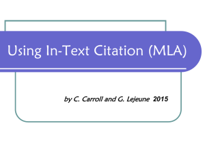 Using In-Text Citation