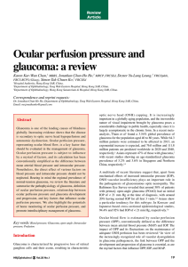 Ocular perfusion pressure and glaucoma: a review