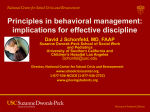 Principles in behavioral management: implications for effective