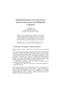 Modeling Emotion as an Interaction between