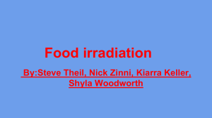 Food irradiation - West Branch Local School District