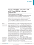 Breast cancer risk associated with BRCA1 and BRCA2 in diverse