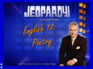 Poetry Jeopardy - ms