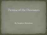 Demise of the Dinosaurs Powerpoint