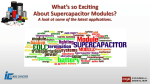 What`s so Exciting About Supercapacitor Modules?