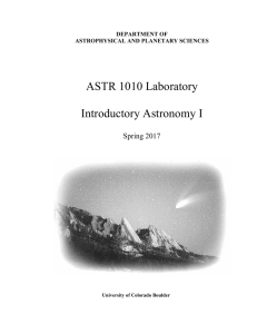 ASTR 1010 - Sommers-Bausch Observatory