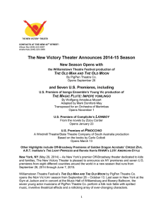 The New Victory Theater Announces 2014