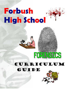 Forensic Science Curriculum Guide - JSmithForensic