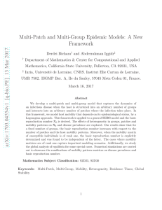 Multi-Patch and Multi-Group Epidemic Models: A New Framework
