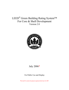 LEED for Core and Shell
