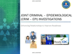 Criminal Epidemiological Training Brief