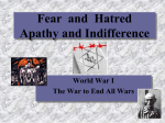 Hatred and Fear