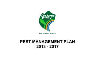 Pest Management Plan - Lockyer Valley Regional Council