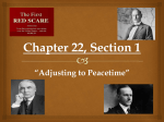 "Chapter 22, Section 1 ""Adjusting to Peacetime"""