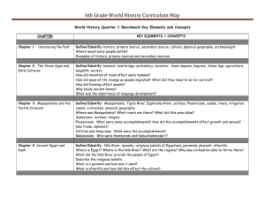6th Grade World History Curriculum Map