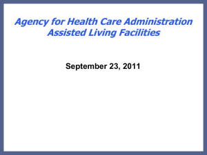 Agency for Health Care Administration Assisted Living Facilities
