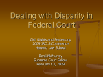Dealing with Disparity in Federal Court