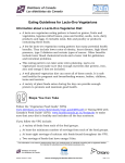 Eating Guidelines for Lacto