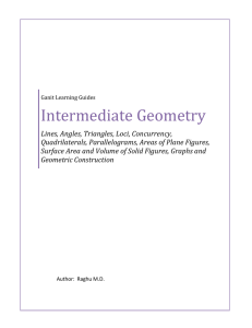 Intermediate Geometry - Learning for Knowledge