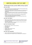 infection control staff fact sheet