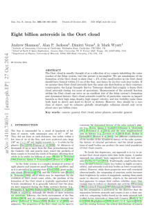 Eight billion asteroids in the Oort cloud