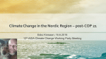 Threats and responses to Climate Change in the Nordic Region post