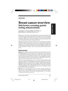 Breast cancer overview Risk factors, screening