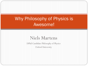 Why Philosophy of Physics is Awesome!
