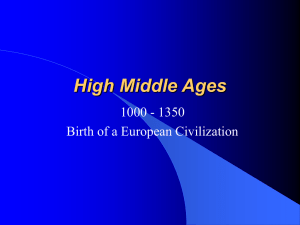 High Middle Ages - Eagan High School
