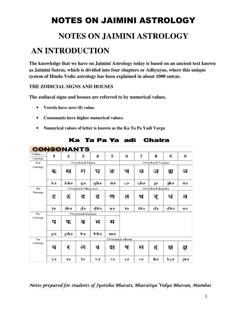 Jaimini Astrology