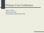Primary Care Conference Rebecca L Byers MD Clinical Case May